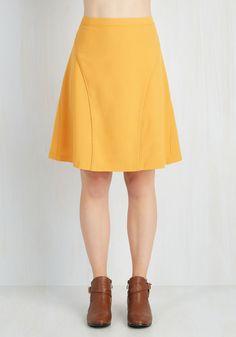 New Arrivals - On-Location Jubilation Skirt in Sunflower