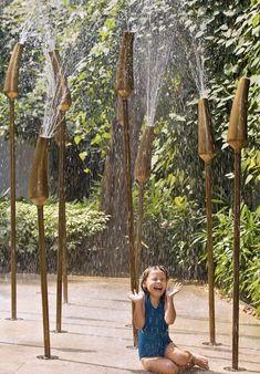Godrej Platinum Kolkata India One Landscape Design 2019 WLA Awards Winner Merit Award Built Residential Landscape Plans, Garden Landscape Design, Urban Landscape, Futuristic Architecture, Sustainable Architecture, Landscape Architecture, Water Playground, Playground Design, Exterior