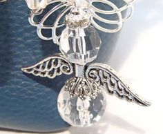 Faceted Glass Angel Purse Bling by GirlieGals on Etsy,