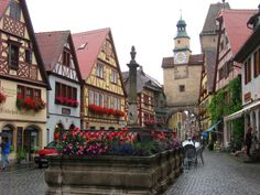Rothenburg, Germany... drank way too much Reisling here One of my favorite towns in Germany!!