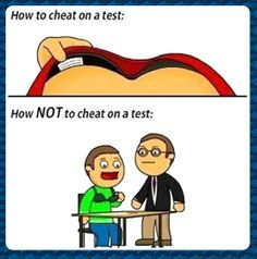 How not to cheat on a test...