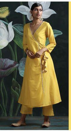 Angrakha Style, Wrap Dress, Shirt Dress, Shirts, Dresses, Fashion, Vestidos, Moda, Shirtdress