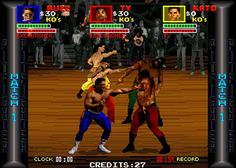 Pitfighter (Arcade) - As a kid Ithought this game was amazing because of the digitised graphics! (WOW!), but looking at it now and realising that it was a rubbish fighting game with awful gameplay!