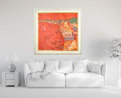 "Fine art print red giclee print on canvas, Marilion Fine Art,""VARANASI"" by…"