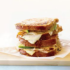 Golden Gate Grilled Cheese (w/turkey, avocado, muenster & cilantro on parmesan-crusted sourdough)