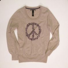New listing ✨ NWT Lucky peace & shamrocks sweater New with tags • Lucky Brand Jeans sweater with peace symbol made of purple shamrocks • Tag gives size as XS, but fit is a comfortable S Lucky Brand Sweaters Crew & Scoop Necks