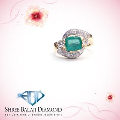 Show off your sense of style with this stunning emerald and diamond ring.