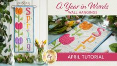 How to Make a Pieced Tulip Block | a Shabby Fabrics Tutorial Cute Quilts, Easy Quilts, Clover Flower, Shabby Fabrics, Quilt Border, Table Toppers, Tulips, Decorative Pillows, Sewing Projects
