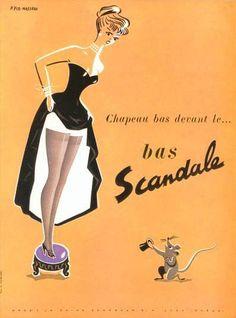 coololdthings:        bas Scandale, vintage ad