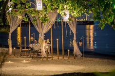 Romantic Private Beachfront Cabana Dining, If you're looking for a romantic seaside restaurant. Seafood and private dinner by the beach at phuket's most romantic dinner. Romantic Beach, Most Romantic, Thavorn Beach Village, Seaside Restaurant, Dinner For One, Romantic Dinners, Phuket, Resort Spa, Cabana