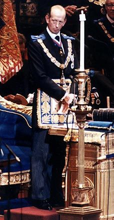 Prince Edward, Duke of Kent and Grand Master of the United Grand Lodge of England - Prince William's uncle Masonic Art, Masonic Lodge, Masonic Symbols, Famous Freemasons, Grand Lodge, Prince Edward, Prince Philip, Prince William, Templer