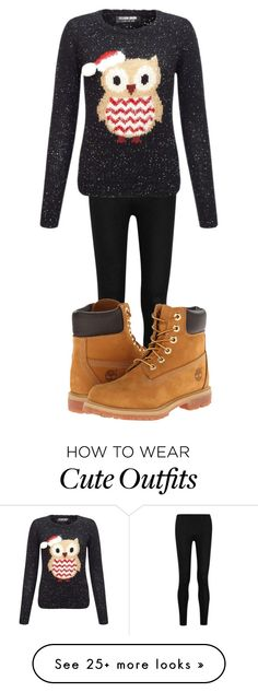 """Cute outfit"" by cutevictoria on Polyvore featuring Donna Karan, Lipsy and Timberland"