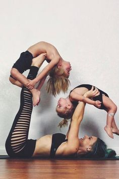 Prepare to Be Amazed by This Mom and Her Little Kids Doing Yoga Together