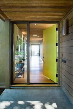 Southampton project in Berkeley by Koch Architects, Inc. Bay Area, California architecture and design. Entrance and front door.