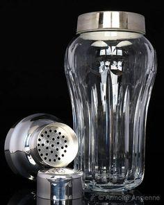 BUY on ETSY: Cut Crystal Cocktail Shaker, Martini Shaker