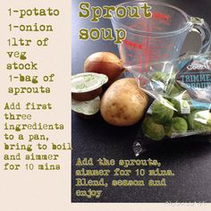 Syn free sprout soup brussel sprout soup, slimming world recipes syn free, healthy eating Breakfast Food List, Breakfast Recipes, Brussel Sprout Soup, Diet Recipes, Healthy Recipes, Soup Recipes, Slimming World Recipes Syn Free, Diet Motivation Funny, Oatmeal Smoothies