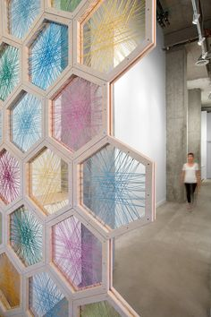 Float House floatation center by OMB, Vancouver – Canada hexagon custom wall design Deco Boheme, Ideias Diy, Sustainable Design, Visual Merchandising, Interior Design Living Room, Diy Home Decor, Bedroom Decor, Personality, Dividers