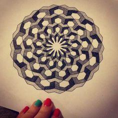 ... Mandalas, Geometric Dotwork, Dotwork Mandala Design, Mandalas Design