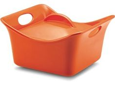 Orange 3.5-qt. Stoneware Cassersquare by Rachael Ray at Cooking.com  Holiday Entry