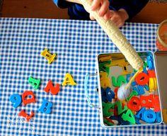 5 rainy day preschool activities. #1--alphabet fishing