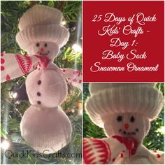 Baby Sock Snowman Ornament – 25 Days of Quick Kids' Christmas...