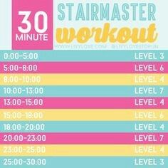 Beginners stairmaster workout