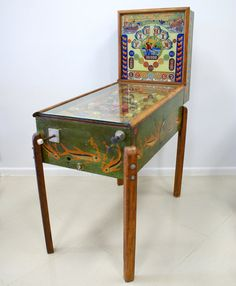 VIntage Pinball Machine from the 1930's-40's Great Hand Done Artwork