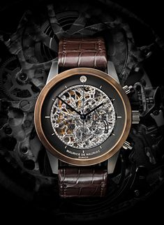Skeleton Watch - Elegant Swiss made watches for men handcrafted in Zurich. #swissmadewatches #menswatches #luxurywatches