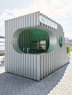 Woods Bagot - Over/Under Kiosks Kiosk Design, Cafe Design, Booth Design, Retail Design, Signage Design, Design Design, Graphic Design, Corporate Design, Container Design