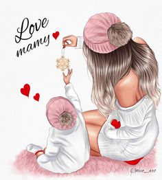 Mother And Daughter Drawing, Mother Art, Mother And Child, Baby Girl Drawing, Girl Drawing Sketches, Mother Baby Photography, Cute Backgrounds For Phones, Baby Girl Quotes, Best Friend Drawings