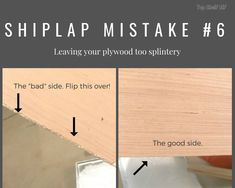 Sand, sand, sand those plywood shiplap boards down! DIY Home improvement tip wall 10 Mistakes to Avoid When Installing Faux Shiplap - Top Shelf DIY Home Improvement Projects, Home Projects, Home Renovation, Home Remodeling, Shiplap Boards, Faux Shiplap, Shiplap Diy, Shiplap Bathroom, Wainscoting