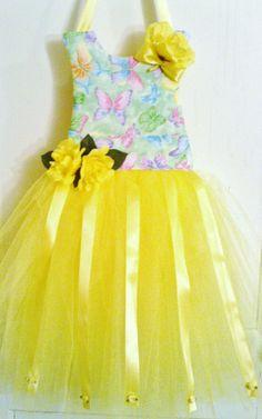 Yellow Handmade Tutu Dress Hair Bow Holder by Tu2Rific on Etsy, $25.00