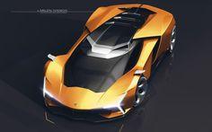 This automotive concept embodies Lamborghini's raging-bull spirit Lamborghini Photos, Lamborghini Concept, Lamborghini Veneno, Future Concept Cars, Future Car, Porsche 918 Spyder, Automobile, Futuristic Cars, Car Sketch