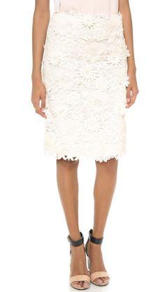 Tory Burch Mia Lace Skirt |