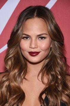 Chrissy Teigen's dark lipstick
