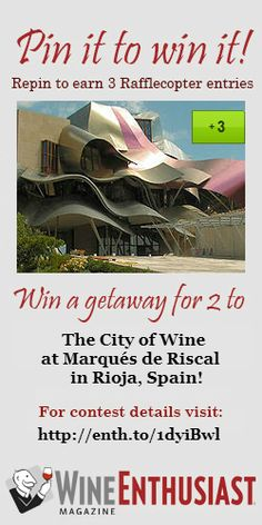 A chance to win an amazing trip to a beautiful country to learn about, taste and drink wine!!