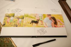 Engagement Photobook for Guestbook! Cherry Blossom Events and Katelyn James Photography