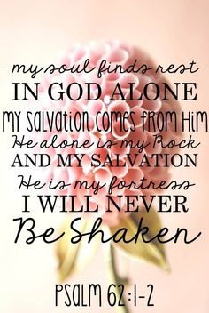 He alone is my fortress.
