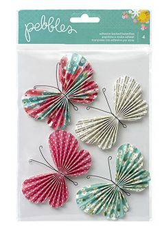 Mariposas de papel adhesivas from Oh! Naif