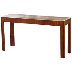Sleek Mid-Century Modern Italian Walnut Console Table 1