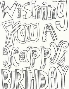 Happy Birthday Sister coloring page | Coloring | Pinterest ...