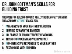 6 steps to building trust in relationships John Gottman Relationship Therapy, Marriage Relationship, Marriage Tips, Relationship Repair, Better Relationship, Happy Marriage, Trust In Relationships, Healthy Relationships, Country Relationships