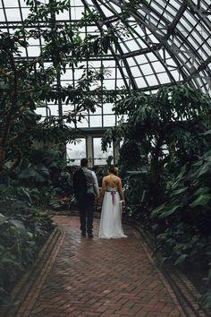 Industrial Garden Wedding Inspiration at Garfield Park Conservatory #greenhousewedding Diy Wedding Bouquet, Wedding Shoot, Wedding Flowers, Wedding Venues, Wedding Dresses, Wedding Ceremony, Wedding Ideas, Wedding Themes, Wedding Decorations