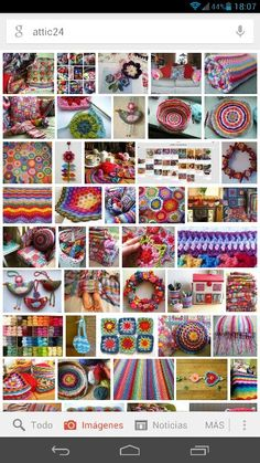 Collage de crochet con trabajos ideales