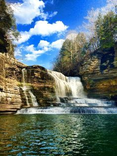 Cummins Falls on a spring day in 2015 (Jackson County, TN) Cummings Falls, Cummins Falls State Park, Cookeville Tennessee, Tennessee State Parks, Cabin Rentals, Spring Day, Places Ive Been, Beautiful Places, National Parks