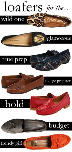 "fall 2012 trend: the ""not-so-classic"" loafer is big for fall, find one that matches your personality/style."