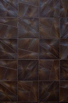 KELLY WEARSTLER X ANN SACKS. 'Tableau Horizon 1' textured ceramic tiles