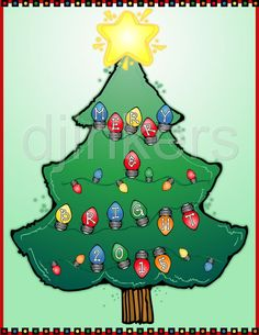 christmas tree, christmas lights, christmas clip art, merry christmas
