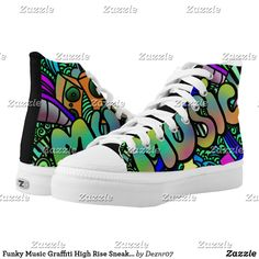 High Top Chucks, High Top Sneakers, Music Graffiti, Sharpie Shoes, Vanz, Custom Sneakers, On Shoes, Converse Chuck Taylor, High Tops