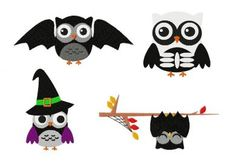 """Includes four spooky owl design in one package, PDF color sheet and each in all of the following sizes: Owl Bat: 2.5"""" 3"""" 3.5"""" 4"""" 4.5"""" 5"""" & 5.5"""" Owl Skeleton: …"""